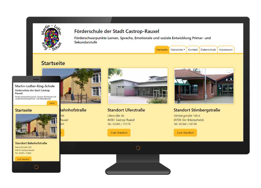 Webdesign: Martin-Luther-King-Schule in Castrop-Rauxel